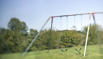 Swing set in park