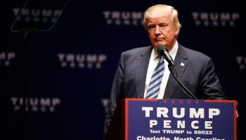 GOP Presidential Nominee Donald Trump Campaigns In Charlotte, North Carolina