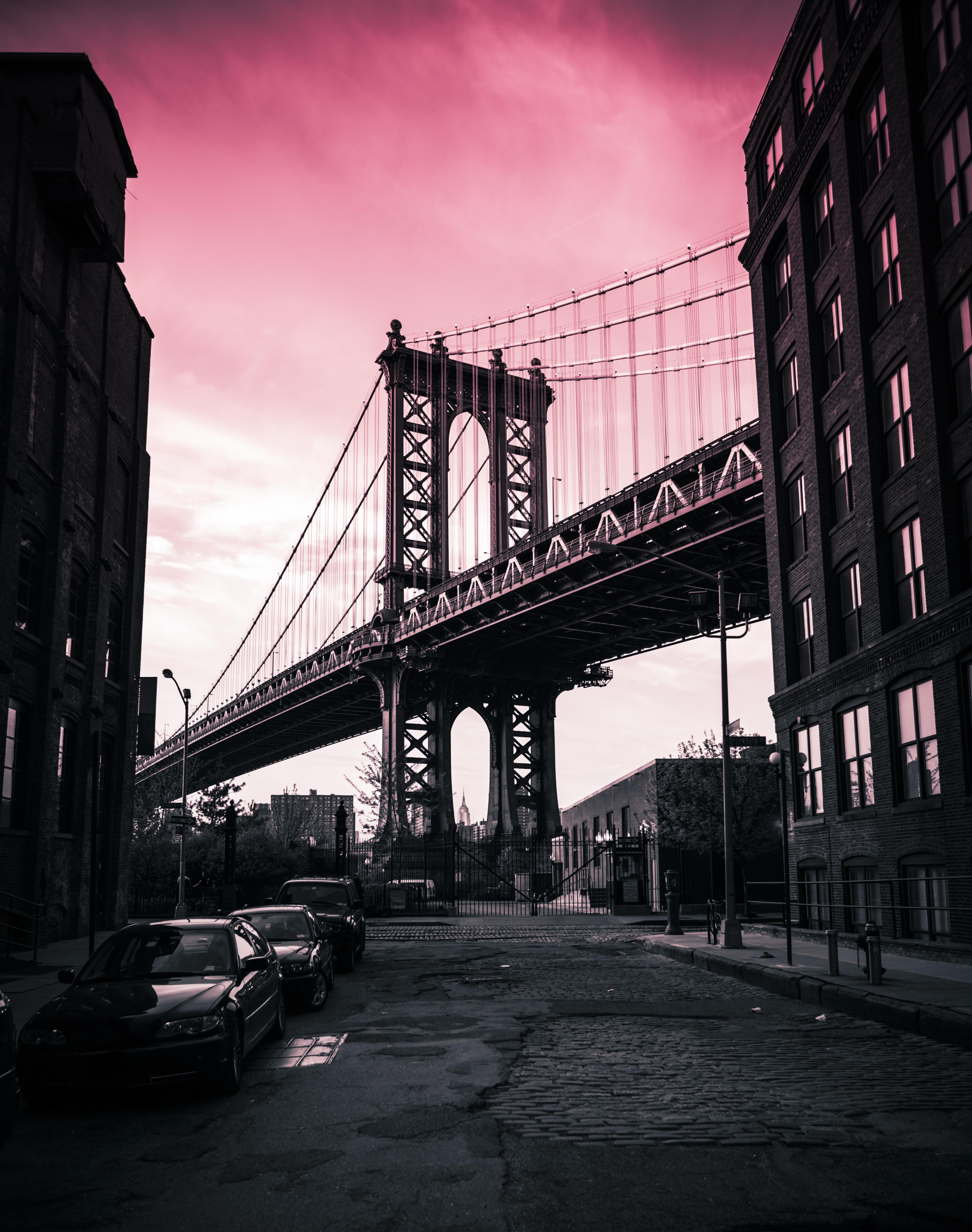 Manhattan Bridge Toned Black and White