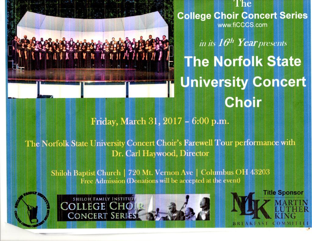 Norfolk State University Choir Concert