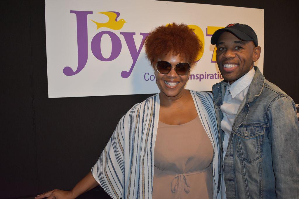 Tina Campbell visit Joy 107.1