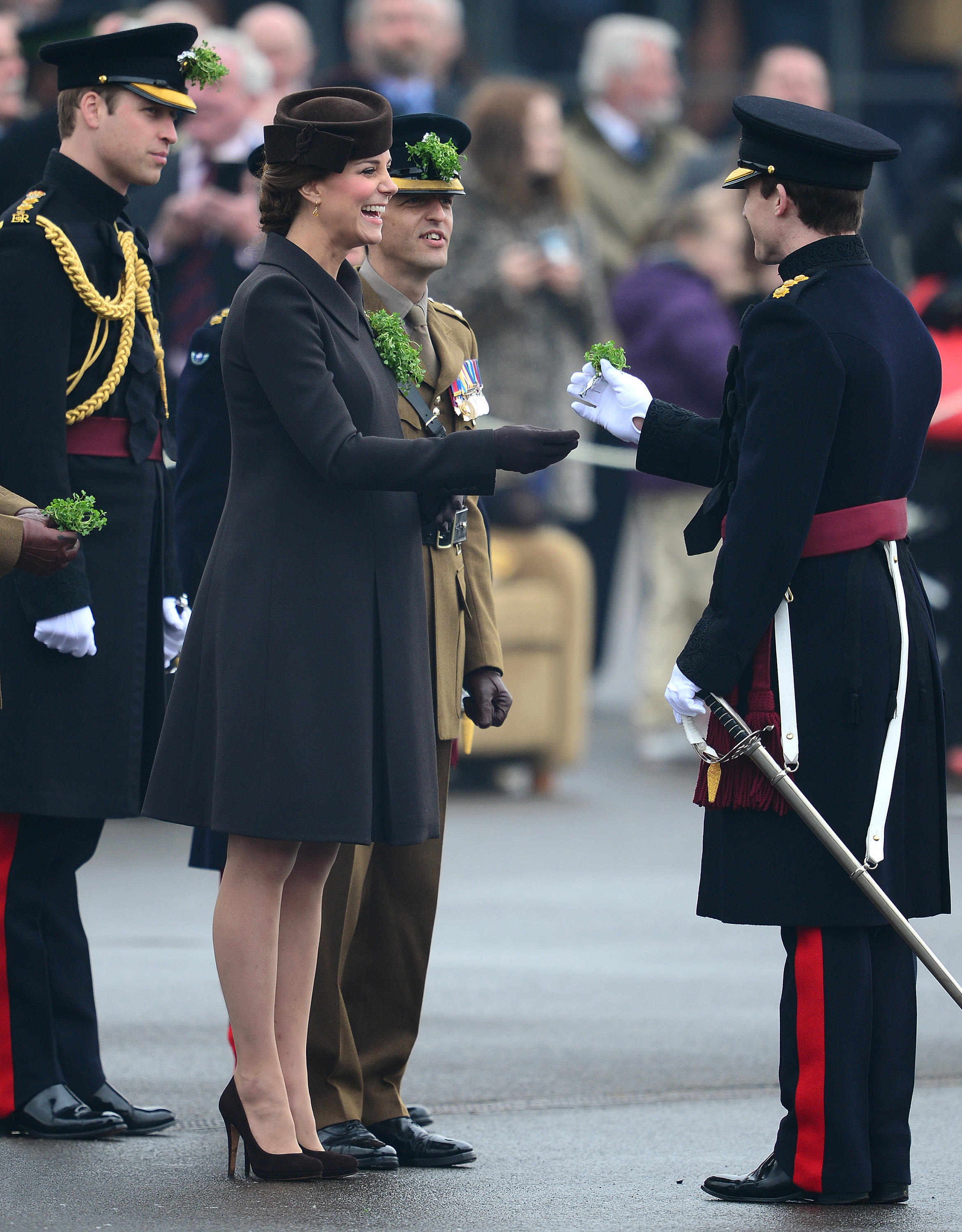 Kate Middleton and Prince William attend the St. Patrick's Day Parade