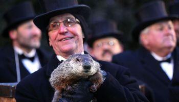 Annual Groundhog's Day Ritual Held In Punxsutawney, Pennsylvania