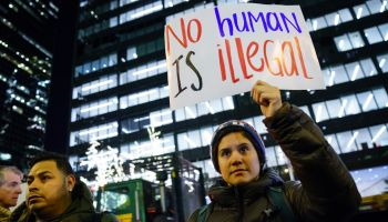 Immigration Activists Demonstrate For Passage Of Clean Dream Act Outside Sen. Schumer's Office In New York