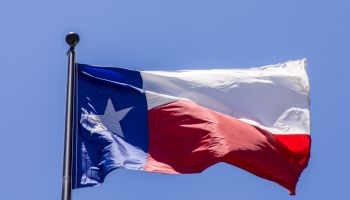 Texas Flag, Austin, Texas, USA
