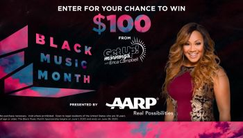 """Get Up! Mornings with Erica Campbell ® """"AARP Black Music Month Promotion"""" FEATURE IMAGE"""